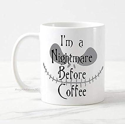 Nightmare Before Christmas Coffee Mug.Amazon Com I M A Nightmare Before Coffee Mug Jack