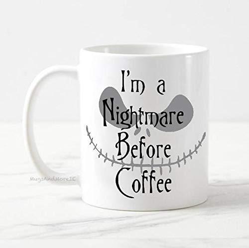 I'm a nightmare before coffee mug, Jack Skellington mug, Halloween mug, the nightmare before christmas, coffee mug, tim burton mug, fall mug -