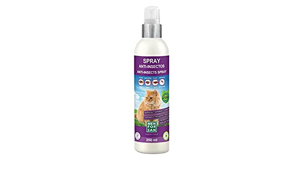Amazon.com: Spray Anti-Insectos (Margosa Geraniol y Lavandino) 250 ml - Para Gatos - Menforsan: Beauty
