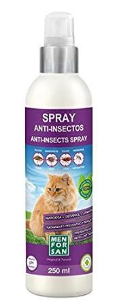 Amazon.com: Spray Anti-Insectos (Margosa Geraniol y Lavandino) 250 ml - Para Gatos - Menforsan: Beauty