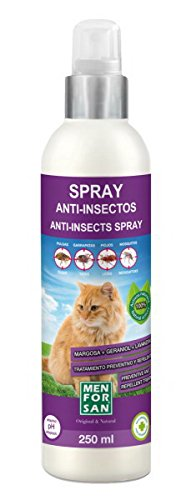 Spray Anti-Insectos (Margosa Geraniol y Lavandino) 250 ml - Para Gatos -
