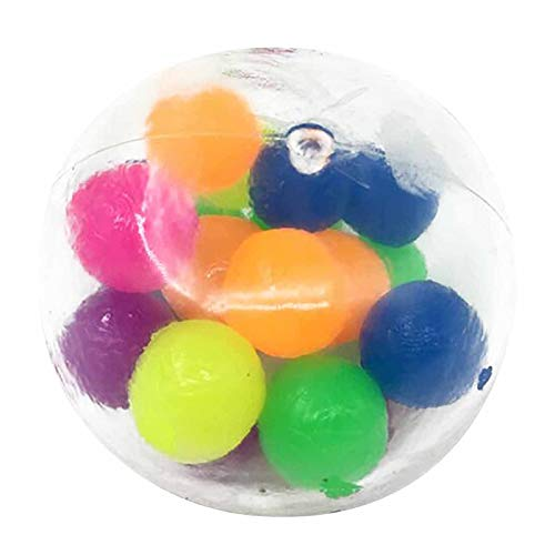 Clacce 3 Stück Stress Relief Ball, Squeeze Relief Autismus Spielzeug Kinder Erwachsene Anti-Stress Spielzeug, Sensory Balls Spielzeug Squeezing Balls (3PC)