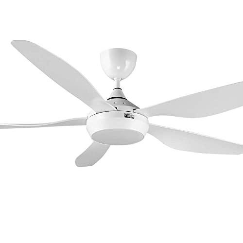 reiga 54 Modern Ceiling Fan with LED Light Kit Remote Control, 6 Speeds