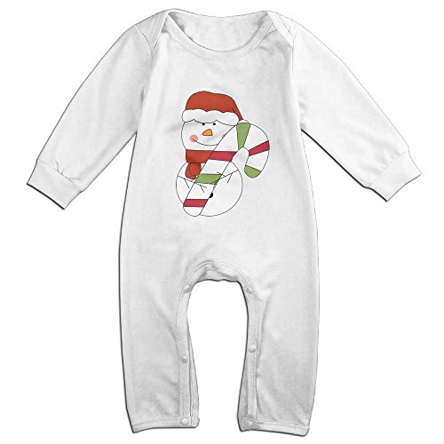 Baby Girl Boy Christmas Snowman Long Sleeve Baby Romper Jumpsuit Playsuit Outfits