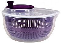Salatschleuder - Ø 23 cm - transparent / lila - Salat-Karussell -...
