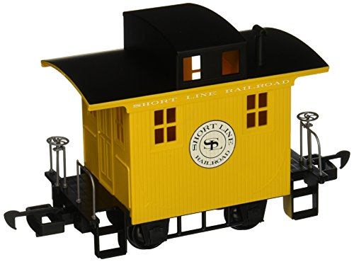 Bachmann Industries Li ` l Big Haulers Caboose g-scale Short Line Railroad withイエロー/ブラック屋根、ラージ