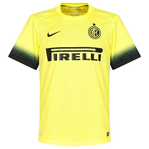Inter Milan Soccer Jersey (Nike Mens Inter Milan Stadium Jersey [LT VLTGE YLW II] (XL))