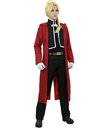 (Miccostumes Men's Edward Elric Cosplay Costume Large Red and)