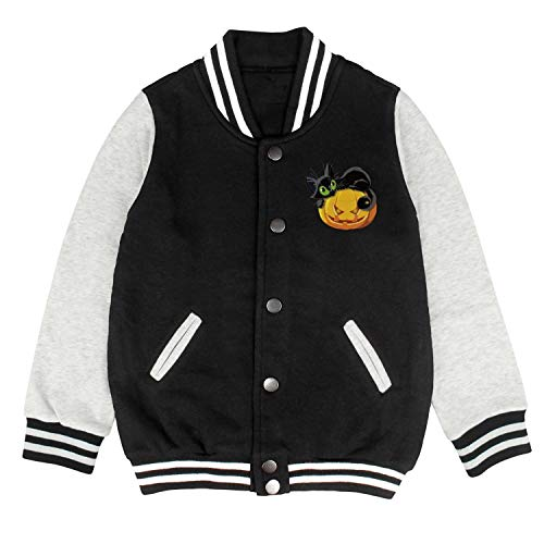 Halloween Pumpkin cat Cool Graphic Casual Photo Baseball Jacket for Graduates Boys for $<!--$34.50-->