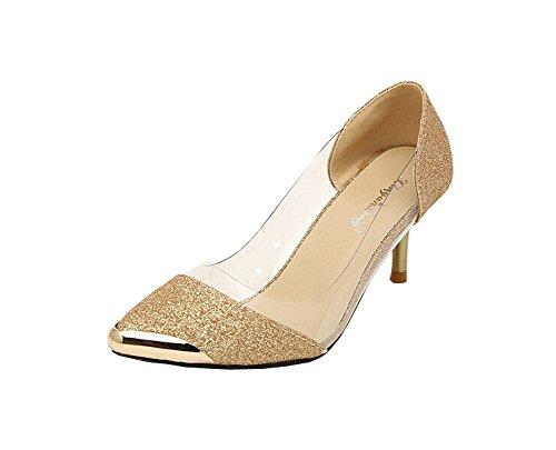 Sommer-Mode High Heels Damen Sandalen Gold
