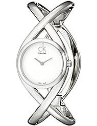 Calvin Klein Womens K2L23120 Enlace Analog Display Swiss Quartz Silver Watch