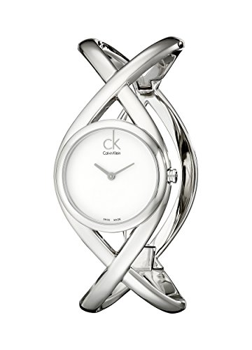 Calvin Klein Women's K2L23120 Enlace Analog Display Swiss Quartz Silver Watch (Klein Calvin Watches Women)