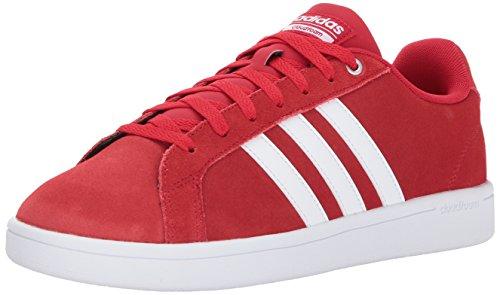 Adidas Men's Shoes | CF Advantage Sneakers, Scarlet/White/Matte Silver, (11 M US)