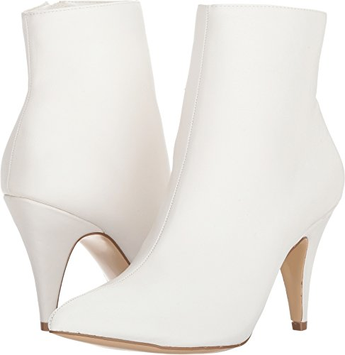 White Heel Boots (Carlos by Carlos Santana Women's Mandarin Ankle Boot, White, 8 Medium US)