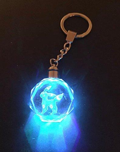 Price comparison product image Pokemon Umbreon LED Keychain Crystal K9 Charizard Pikachu eevee