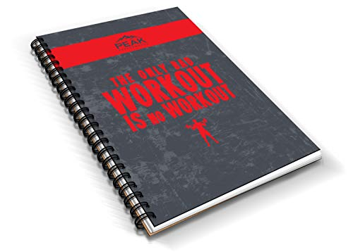 Workout Planner & Fitness Log Book, Designed by Professionals, to Achieve Fitness & Bodybuilding Goals with Custom/Sturdy Design - Get Fit with Peak Performance