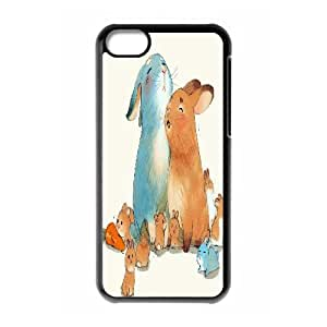 Yearinspace RABBIT'S KIN IPhone 5C Cases, Luxury Brand Phone Case for Iphone 5c for Men {Black}