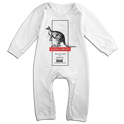 Halloween Graphic Sleep Sets For Baby (JOYJUN Kangaroo Silhouette Retro Pop Art Graphic Fashion Unisex Baby Long Sleeve Design For Halloween)