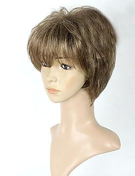 astilla peluca llena de las mujeres pelucas pelucas baratas rizadas cortas sintéticas falsa cortos del pelo