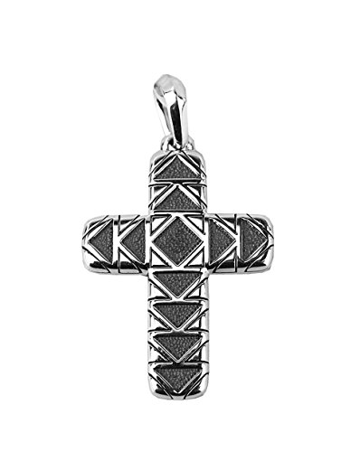 David Yurman STERLING SILVER 42mm FRONTIER CROSS PENDANT 30P NEW (Cross David Yurman)