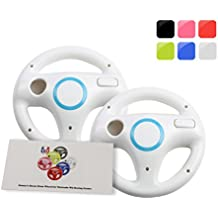 GH 2Pcs Wii(U) \ Wii Wheel for Mario Kart 8 and Other Nintendo Remote Steering Games , Wii Steering Wheel - Original White (6 Colors Available)