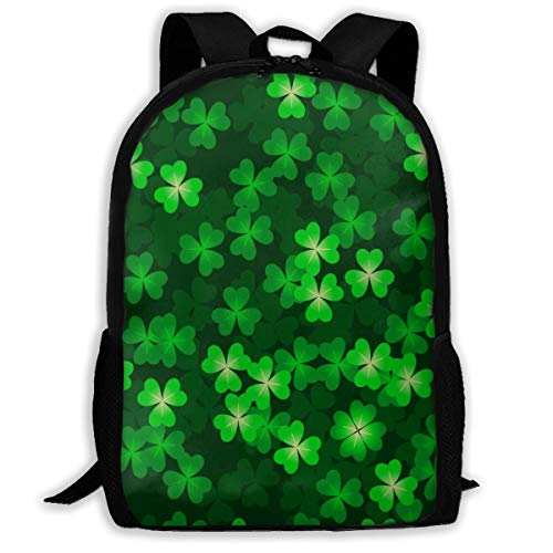 Hidden Four-leafed Clover Unisex School Backpack Durable Schoolbag For School Students