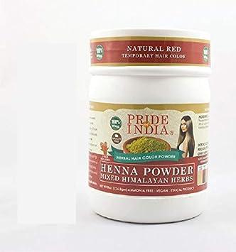 El orgullo de la India - polvo de henna pelo w/Mixta del Himalaya Hierbas, 240grams (8,5 oz)