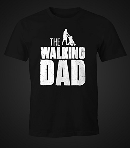 The Walking Dad Shirt Herren T-Shirt Fun Moonworks® schwarz M