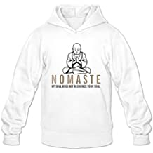 Men's Funny Nomaste My Soul Does Not Recognize Your Soul Hoodie White Medium