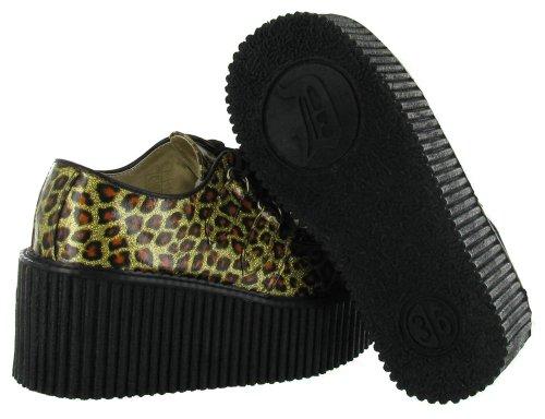 oxford mujer Demonia Brillante Zapatos Dorado xwg80c41qH