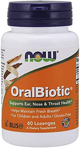 NOW Supplements, OralBiotic, Developed for Adults & Children, Strain Verified, 60 Lozenges