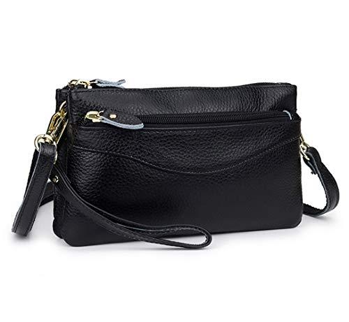 Women Leather Wristlet Small Crossbody Bag for Galaxy Note 10+ S9 S10 Plus A20 A70,BLU Vivo XL4, Google Pixel 3a XL,Cell…