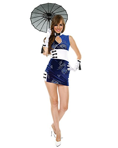 Asian Couple Costume Ideas (Sexy Asian Costume Far Easy Chinese Japanese Cheongsam Dress Sizes: X-Large)