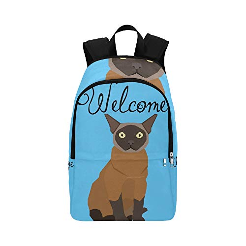 APJDFNKL Burmese Isolated Cat Breed Casual Daypack Travel Bag College School Backpack for Mens and Women