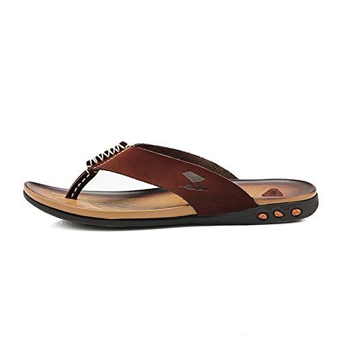 Calzature spiaggia Open Sandalo da Colore uomo 43 Toe ZJM Marrone Cachi progettato antiscivolo confortevole Sandalo dimensioni morbido SwxACqnE