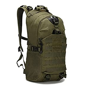 800D Oxford Waterproof Tactical Bag Men's Women Military Hiking Backpack Outdoor Camping Climbing Sport Bag 4 Colors army green 30 - 40L