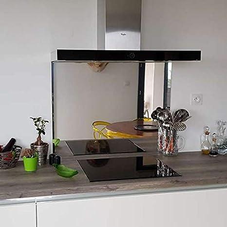 crédence crédence Composite espejo plata – altura 25 cm x Ancho 50 cm: Amazon.es: Grandes electrodomésticos