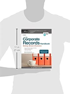 The Corporate Records Handbook: Meetings, Minutes & Resolutions from NOLO