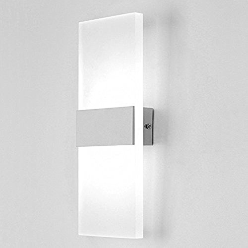 Lightess up down wall light led wall lights modern acrylic wall lamp lightess up down wall light led wall lights modern acrylic wall lamp sconce for living room bedroom lamps corridor wall lighting 6w cool white aloadofball Image collections