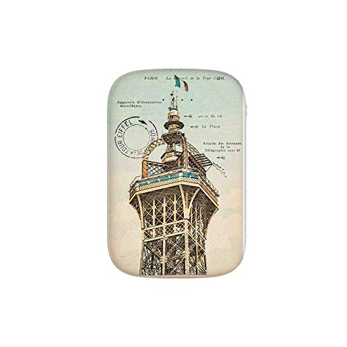 - Vintage Postcard with Eiffel Tower Paris France 1910 Rare Antique Collection Portable Charger 6000mAh Power Bank External Battery Backup Pack Fast Charger for iPhone,Samsung Galaxy and More