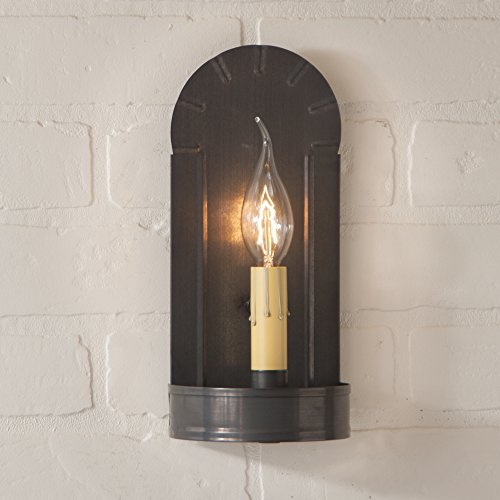 - Fireplace Sconce in Blackened Tin, wired