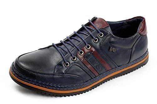 Hombre Zapatillas Casual con Cordones Deporte Diseñador Italiano Moderno Gimnasio Zapatos - Azul Marino, 41: Amazon.es: Zapatos y complementos