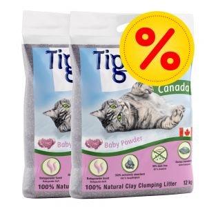 Tigerino Katzenstreu Babypuder - Katzenstreu Babypuderduft