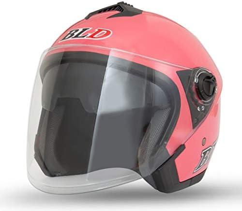 NJ ヘルメット- 電気オートバイのヘルメットの男性と女性の四季HD防曇二重レンズのヘルメット (色 : 青, サイズ さいず : 33x26cm)
