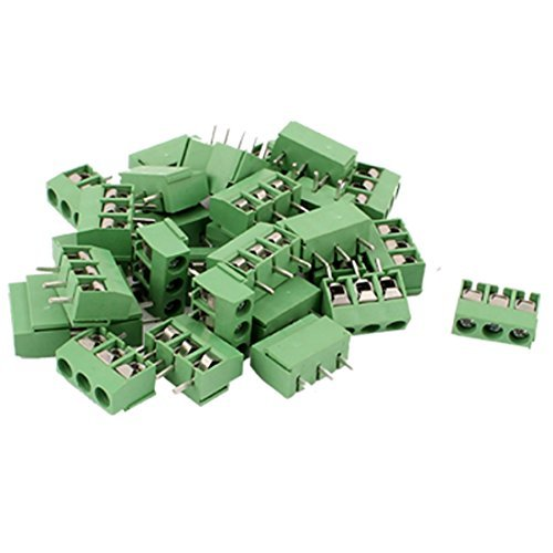 30  PC 14  –   22  AWG de 3  Way 3P PCB Screw Terminal Block Connectors 5.08  mm DealMux