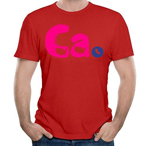 Leiyinxia Mens Customized CALIFORNIA T-Shirts Organic Cotton O-Neck Red