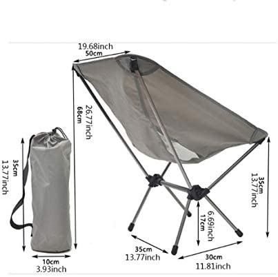 WTDlove Outdoor Leisure Camping Chair Light Camping Folding Chairs With Aluminum Frame For Outdoor Camping Hiking