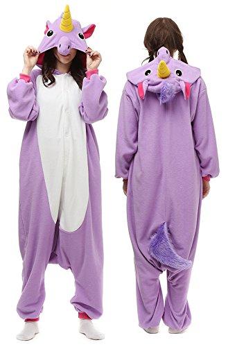 Unisex Onesies Pajamas Womens Cosplay Costume Kigurumi Animal Sleepwear (XL, Purple) (Funny Onesie Adults)