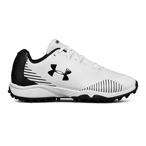 Under Armour Women's Finisher Turf Lacrosse Shoe, White (100)/Black, 8