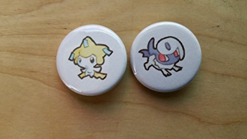 5x Pokemon Collectible 1'' inch Buttons - Jirachi Absol Evolution Set - Custom Made - Pin Back - Gift Party Favor by Legacy Pin Collection